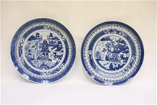 2 Chinese 18th/19th c. export porcelain plate