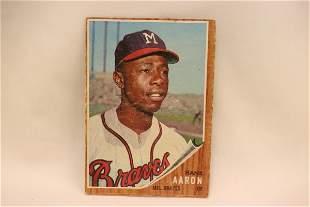 A vintage Hank Aaron baseball card