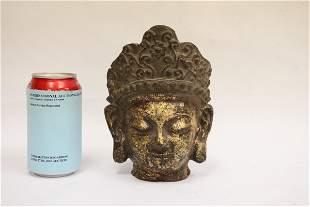 An important Chinese antique gilt bronze sculpture