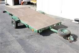 A foldable utility trailer