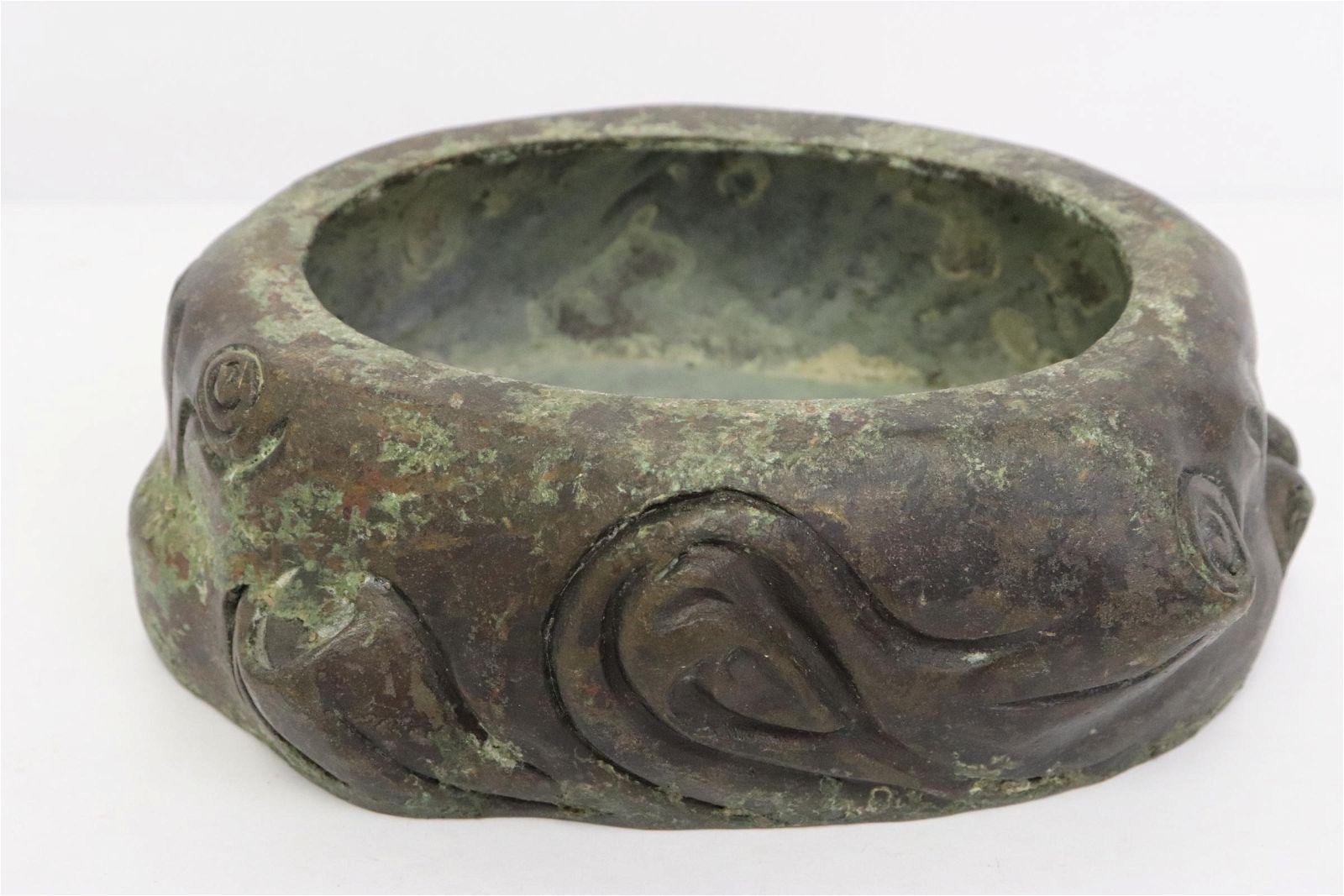 Chinese vintage bronze brush wash(?)