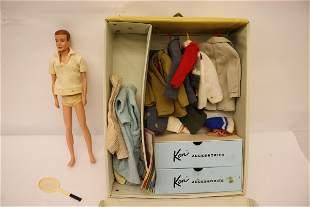 1960 Ken doll with wardrobe