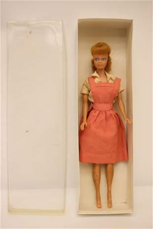 1962 Midge doll with pink dress