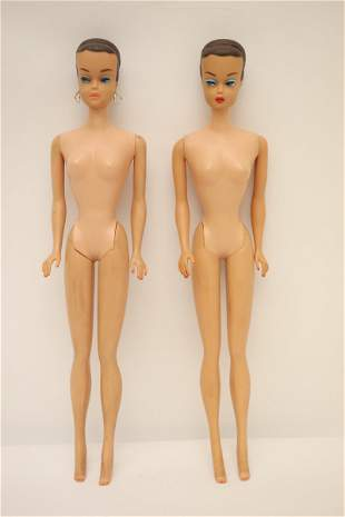 Two 1962 Midge dolls with molded hair