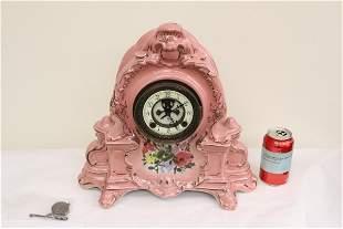 Antique porcelain cased Ansonia clock