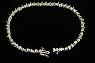 10K Y/G diamond tennis bracelet