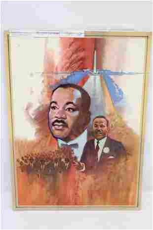 """A fine watercolor """"Martin Luther King, Jr."""""""