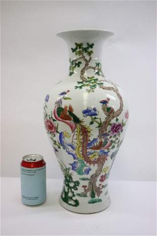 A beautiful Chinese famille rose porcelain vase