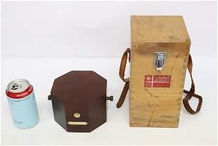 A Bulova quartz clock & a Maxine compass in box