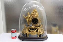 A beautiful antique French dome clock