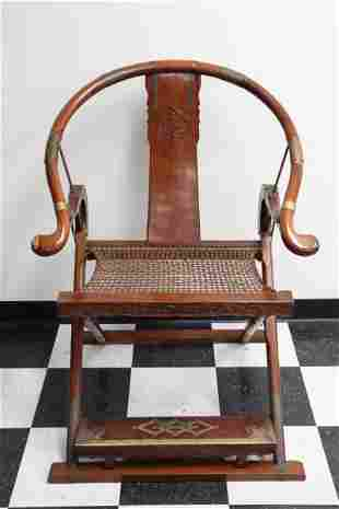 Chinese vintage rosewood folding chair