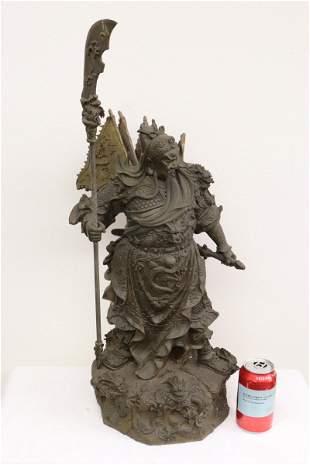 Large bronze sculpture of Guandi