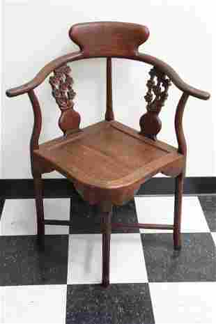 Chinese rosewood corner chair
