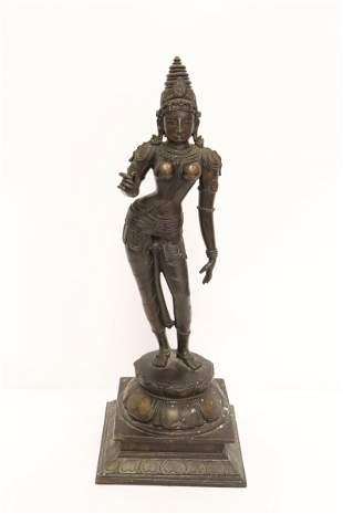 Very fine India bronze sculpture of Hindu god