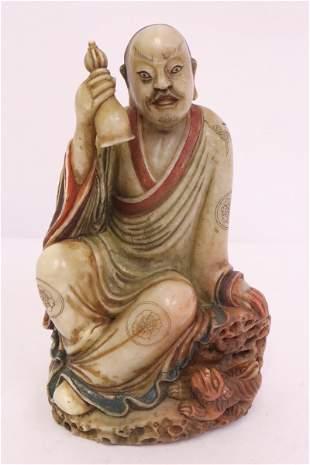 Chinese shoushan stone carved deity