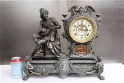 speltor Ansonia keywind table clock