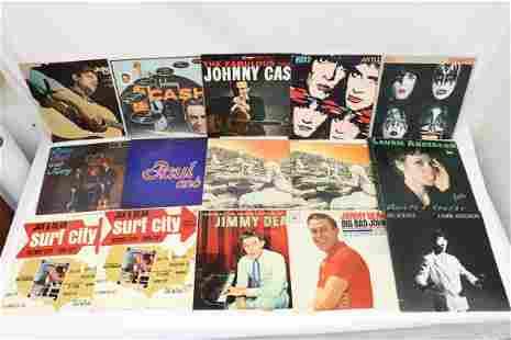 Approx. 20 LP; rock n roll, country, jazz, folk, etc.