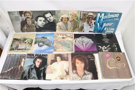 Approx. 20 LP; Chicago, Elton John, and more