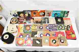 Large set of 45 records