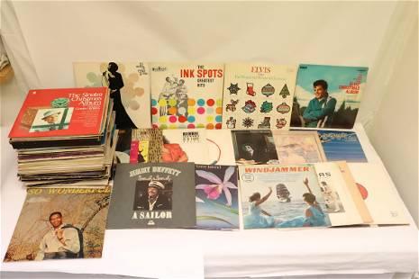 Approx. 80 LP; rock n roll, jazz, instrument, etc