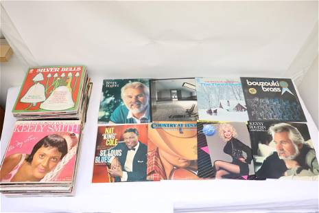 Approx. 80 LP; rock, jazz, Christmas, etc
