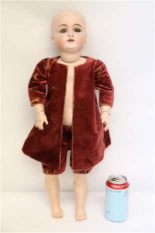 """Antique German bisque head doll, 23"""""""