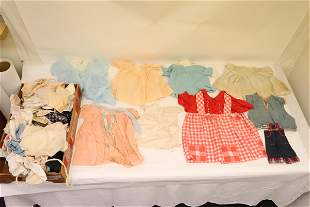 Lot of vintage doll cloth