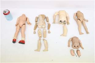 Lot of antique doll body