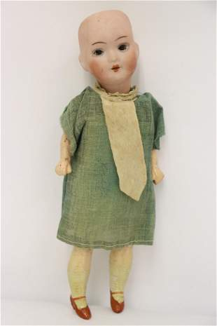Small antique German bisque head doll