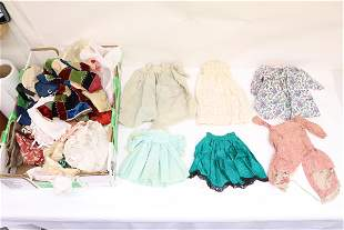 Lot of antique doll clothes