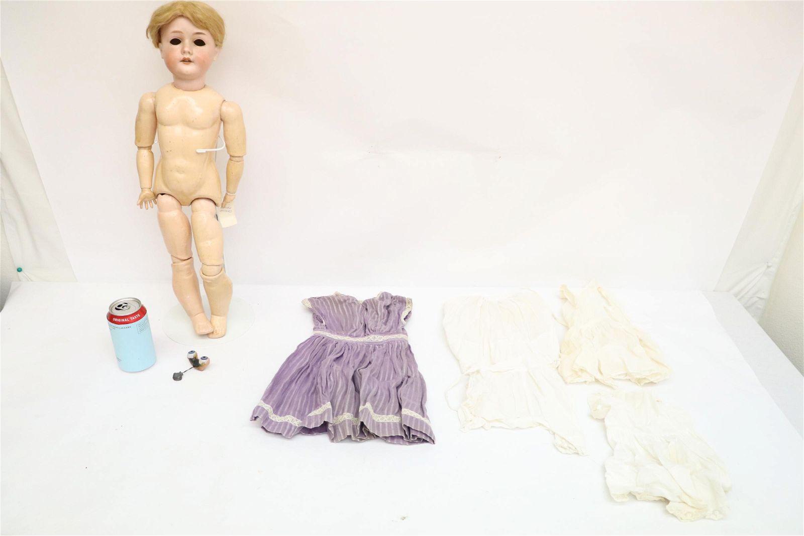 Large antique German bisque head doll