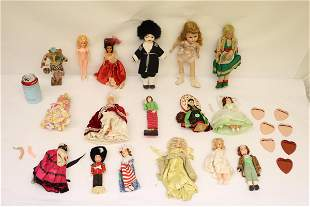 Lot of girl and boy dolls