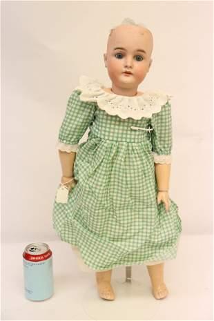 """Antique German bisque head doll, 23.5"""""""