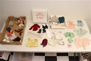 Lot of vintage doll clothes