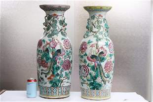 Pr Chinese 19th/20th c. famille rose vases