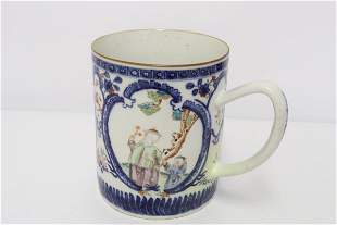 Chinese 18th century famille rose pitcher