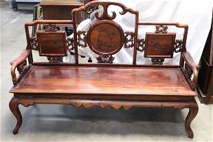 Chinese vintage rosewood 3-seat couch