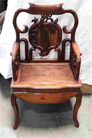 Fine Chinese vintage rosewood armchair