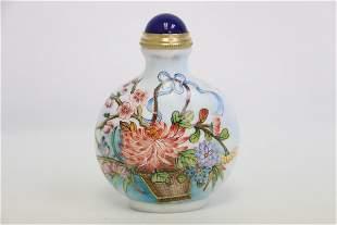 A fine famille rose porcelain snuff bottle