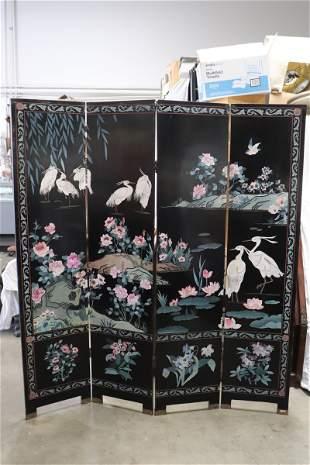 Chinese 4-panel coromandel screen
