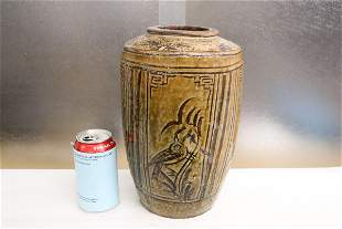A Song style painted pottery jar, chips