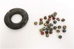 Misc. beads and stone ornament