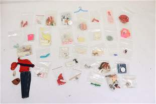 Barbie doll clothes, and miniatures