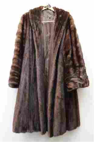 A fine full length ranch mink coat