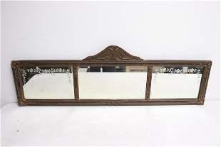 A beautiful art nouveau wall mirror