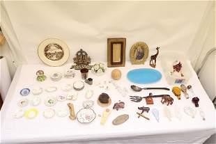 Lot of misc. porcelain, gilt metal pieces, & more