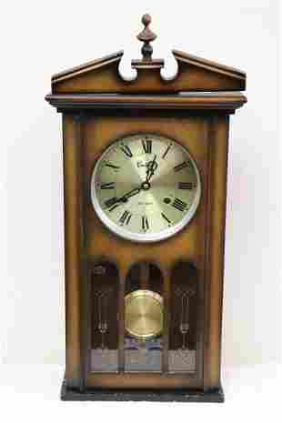 A keywind wall clock