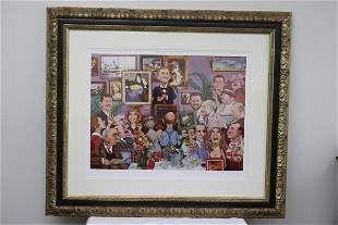 Litho in color, artist proof, signed Charles Bragg