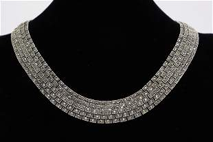 A beautiful lady sterling necklace with marcasite