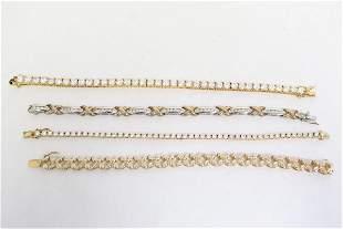 4 fancy sterling bracelet with stones